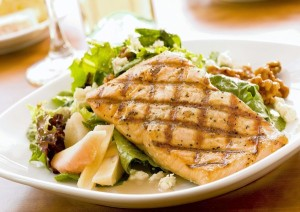 CRAVE Grilled Salmon Salad